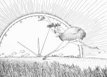 徐俊国漫画--鸵鸟