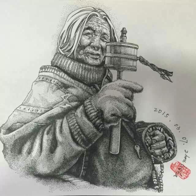 森林乡村田园铅笔画硬笔画钢笔