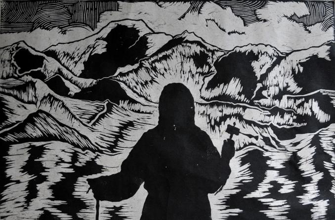 2014年7月版画《恒与山河同在》入选中国梦强军梦全军美展(中国