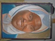 色粉肖像,阿拉伯妇女
