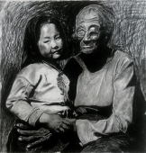 爷爷与孙女