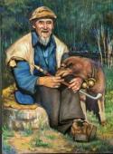 老人与爱犬