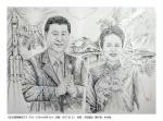 朴永哲钢笔画哲原创作品欣赏《东方雄狮醒来了》