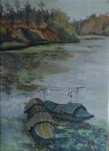 春之船  3980元  布面油画