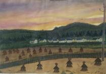 夕阳下的村庄